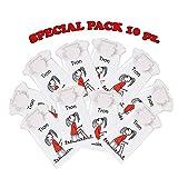Special pack 10 vasino da viaggio, monouso, tron - per bambini fino a 30 kg - limited edit...