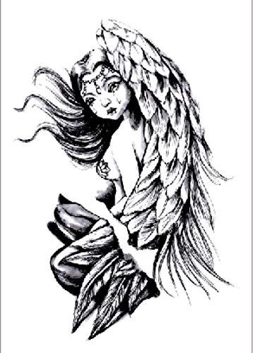 Hermosas Alas De Ángel Tatuajes Temporales Pegatina Para Hombres Adultos Mujeres Niños Impermeable Fake Body Art Cover Up Set Anchor Graphic 21X15Cm 5 Pcs