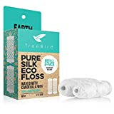Biodegradable Dental Floss Refills 2-pack | For Refillable Glass Holder | Naturally Waxed With Candelilla Wax | 100% Compostable | Natural Silk Spools of 66 yds/60m | Eco-Friendly Zero Waste Oral Care