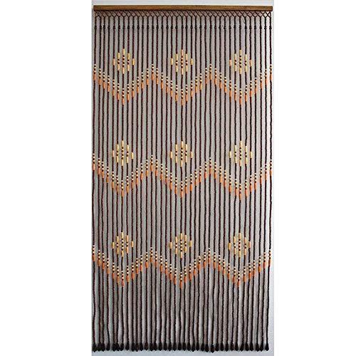 ZXL Séparation de pièces en Bois Pendantes de Rideaux perlés pour Style de Porte Rustique, 4 Tailles (Couleur: A, Taille: 31 brins-80x190cm)