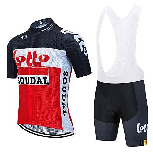 Radsport-Bekleidung Für Herren, Atmungsaktiv Radsport-Bekleidung mit Reflektierendem Streifen mit Radsportträgerhosen für MTB, Sommer