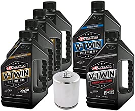 MaximaHiflofiltro VTTOCK24 Complete Engine Oil Change Kit for V Synthetic Blend Harley Davidson Twin Cam, 192. Fluid_Ounces