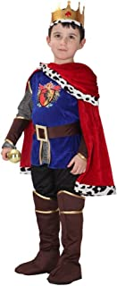 Kalanman Children Boys Halloween Dress Up & Role Play Costume Medieval Prince King Warrior Outfit