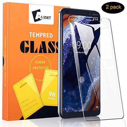 Vetro Temperato Nokia 9 PureView, AVIDET Premium 9H Durezza AntiGraffio Senza Bolle Vetro Temperato Screen Protector per Nokia 9 PureView - 2 Pezzi