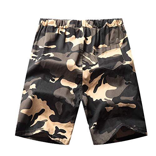 Preisvergleich Produktbild U / A Camouflage-Hose,  Jugend,  lockerer Overall,  modisch,  Herren,  legere Hose,  5-Punkt-Hose Gr. 5X-Large,  gelb