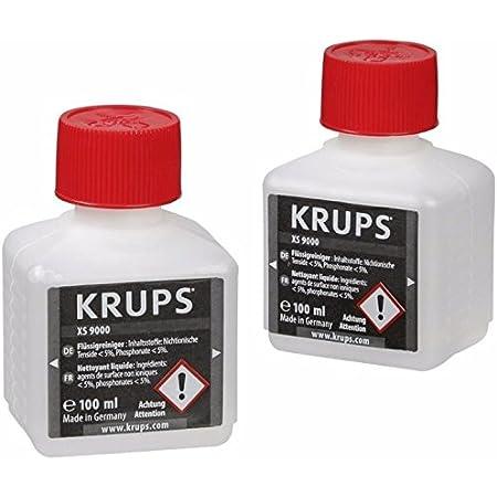 Krups Lot de 2 Nettoyants Liquides pour Système Cappucino Barista XS900010