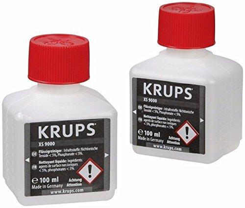 Krups XS9000 Flüssigreiniger für Kaffeevollautomaten mit einem Milchsystem, 2-er Pack