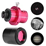 Exliy Cámara telescópica, cámara telescópica T7C CMOS Ocular Digital electrónico para telescopio, cámara telescópica Digital Ocular para astrofotografía y observación