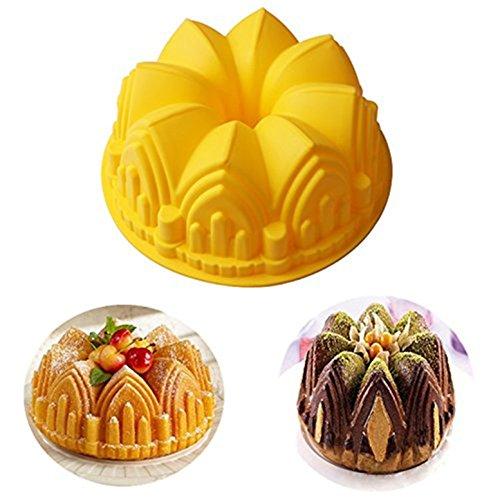 FantasyDay® Premium Silikon Backform/Muffinform für Muffins, Cupcakes, Kuchen, Pudding, Eiswürfel und Gelee - Schloss Brotbackform für eindrucksvolle Kreationen, hochwertige Silikon-Kuchenform