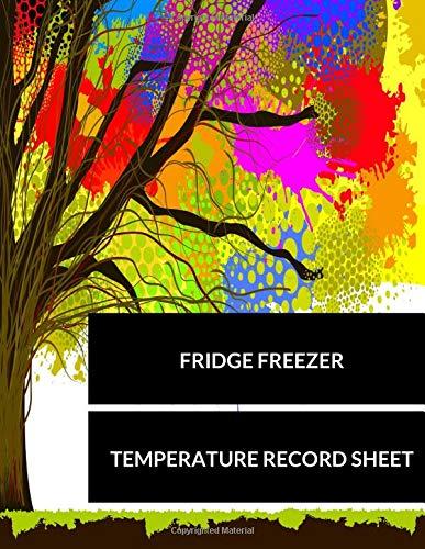 Hoja de registro de temperatura para nevera y congelador: grande 8.5 pulgadas por 11 pulgadas