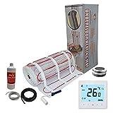 Nassboards Premium Pro - Kit Élite de Calefacción Eléctrica Por Suelo Radiante de 200 W - 3.5m² - Termostato Blanco WiFi Inalámbrico
