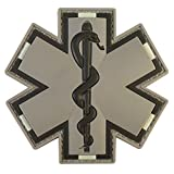 LEGEEON ACU Gray EMS EMT Medic Paramedic Star of Life Morale Tactical PVC 3D Fastener Patch