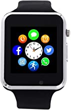 Smart Watch, Touch Screen Smartwatch Smart Wristwatch for Men Women with Call Text SD..