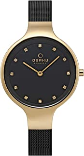 Obaku Sky Medallion Black Mother Of Pearl Dial Watch for Women - V173LXGBMB