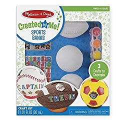 Decorate-Your-Own Sports Set Craft Kit - Soccer, Baseball, and Football Banks