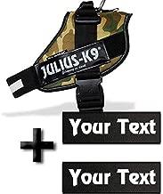 Poitrail : 65-85cm 2 /étiquettes /à Personnaliser T1 Canicaprice Harnais Julius K9 Power IDC Rouge