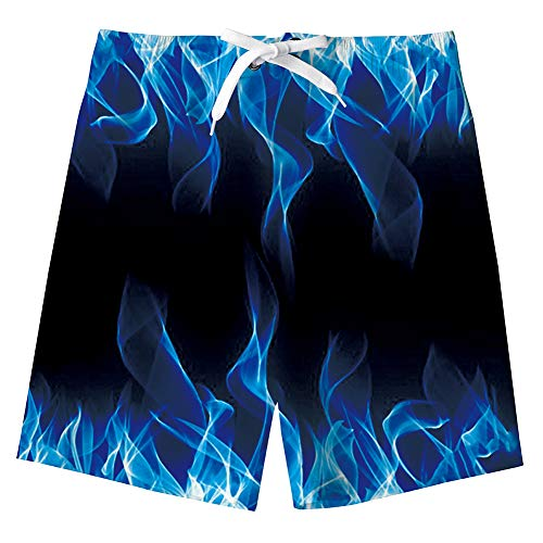 Funnycokid Badehose Jungen Teens Surf Board Swimming Badeshorts 3D Cool Quick Dry Shorts Jungen 13-14 Jahre