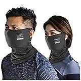 H&Yo フェイスカバー 呼吸しやすい スポーツ用マスク フェイスマスク UVカット 紫外線対策 日焼け防止 男女兼用 (ダークグレー)
