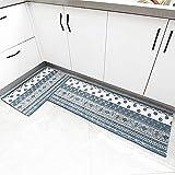 OPLJ Cocina Moderna Alfombra Lavable Antideslizante Pasillo Restaurante alfombras de Piso Porche escaleras alfombras de Piso alfombras de Puerta A9 40x60cm + 40x120cm