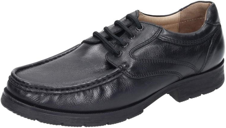 Comfortabel Mens Lace-Up, black, 641015-1