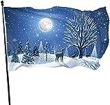 tenghanhao Flagge/Fahne, Fly Breeze Gartenfahne Hausfahne Hoffahne Fahne - Ich wünsche Ihnen Frohe Weihnachten-Winter im Freien Saison- und Weihnachtsfahne Fahne Banner 3x5 Ft (90x150cm)