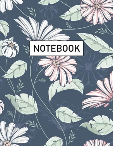 Floral Notebook: Floral Botanical Design - Journal, Notebook, Diary (Wide ruled) (Vintage Flower Botanical Design - Journal, Not
