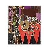 AZTeam Pintura De Mandolina Y Puntuación, Cuadro De Arte, D