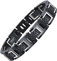 COOLMAN 316L Bracelets en Acier Inoxydable pour Hommes, Bracelet Jonc à la Mode Ajustable avec Boîte-cadeau, 20 - 22 cm...