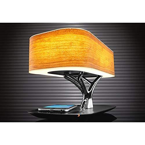 """AMZ_store Bonsai """"Tree of Light"""" - Lampada da tavolo intelligente con altoparlante Bluetooth integrato e caricatore wireless per ufficio, Living Room, Stepless Dimming Desk Lamp con modalità sleep"""