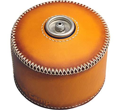 ハンドメイド 植物なめし革 CB/OD缶カバー レザー CB/OD缶レザーカバー アウトドア キャンプ グッズ (OD缶 オレンジ)