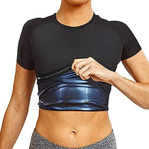 Chaleco de Sudor de Sauna para Hombres Que Quitan La Camisa de Sudor Revestimiento de Polímero 3X Sudor Traje de Sauna Entrenador de Cintura Pérdida de Peso (Color : Women, Size : 3XL)
