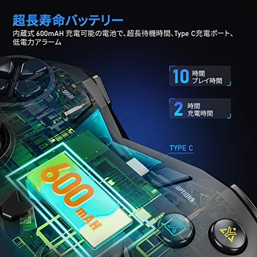 IFYOOPS4Bluetooth無線コントローラーワイヤレスゲームパッド、PS4、SLIM、PROをサポートします。MFiゲームパッドがiPhone、iPad、MacOSをサポートします。PS4RemotePlayAndroidスマホ、タブレット、テレビをサポートします-[赤黒]