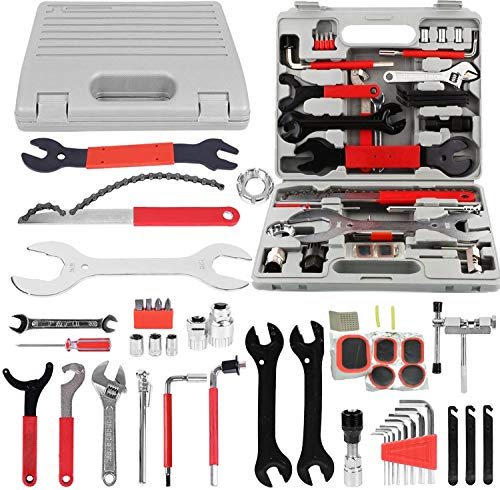 HZFJ Bike Repair Tool Kits, Bicycle Tool Kit Multi-Function Tool Kit, Maintenance Tool Set with Tool Box Best Value Professional Home Bike Tool with Premium Quality