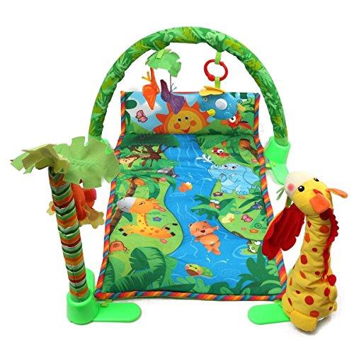 Bazaar Forêt tropicale bébé bébé musical jouets étage activité gymnase crawl playmate literie papillon portée kick