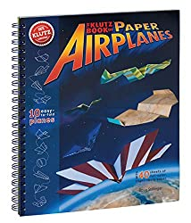 Image: lutz Book of Paper Airplanes Craft Kit, by Klutz | 10 different Planes with a large variety of patterned papers