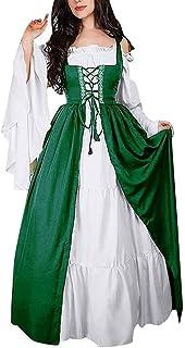 Signore A Maniche Lunghe Vestito Medioevale Gotica Retro Vestito Rinascimentale Cosplay Costume Della Principessa Di Lungh...