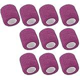 Mintice 10 X vendaje autoadhesivo vendajes cohesivos fuerte elástico cinta de primeros auxilios color de púrpura para muñeca tobillo deporte Los 4.5mx5cm