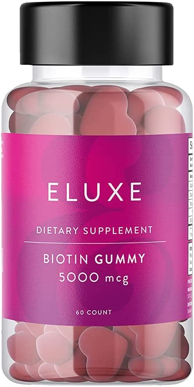 ELUXE Selling and selling Biotin Gummy for Repair Limited time sale Damage Hair – 5000mcg