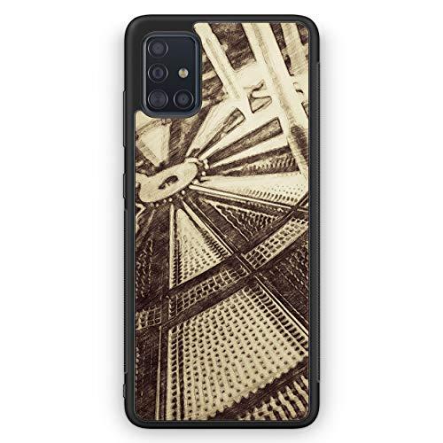 Vintage Darts - Silikon Hülle für Samsung Galaxy A51 - Motiv Design Sport - Cover Handyhülle Schutzhülle Case Schale