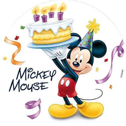 Dekoback Zucker-Tortenaufleger Mickey Mouse 1, 1er Pack (1 x 17 g)