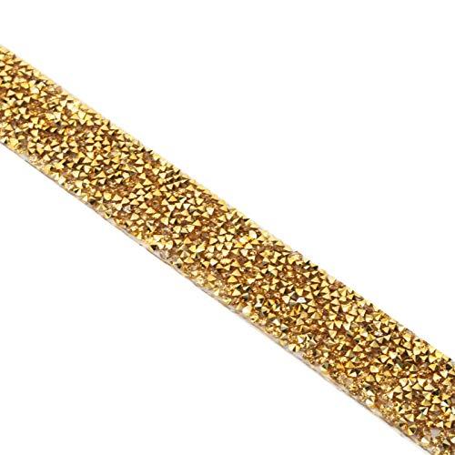 Adornos de diamantes de imitación firmes decoración de accesorios de boda(2.5cm golden diamond)