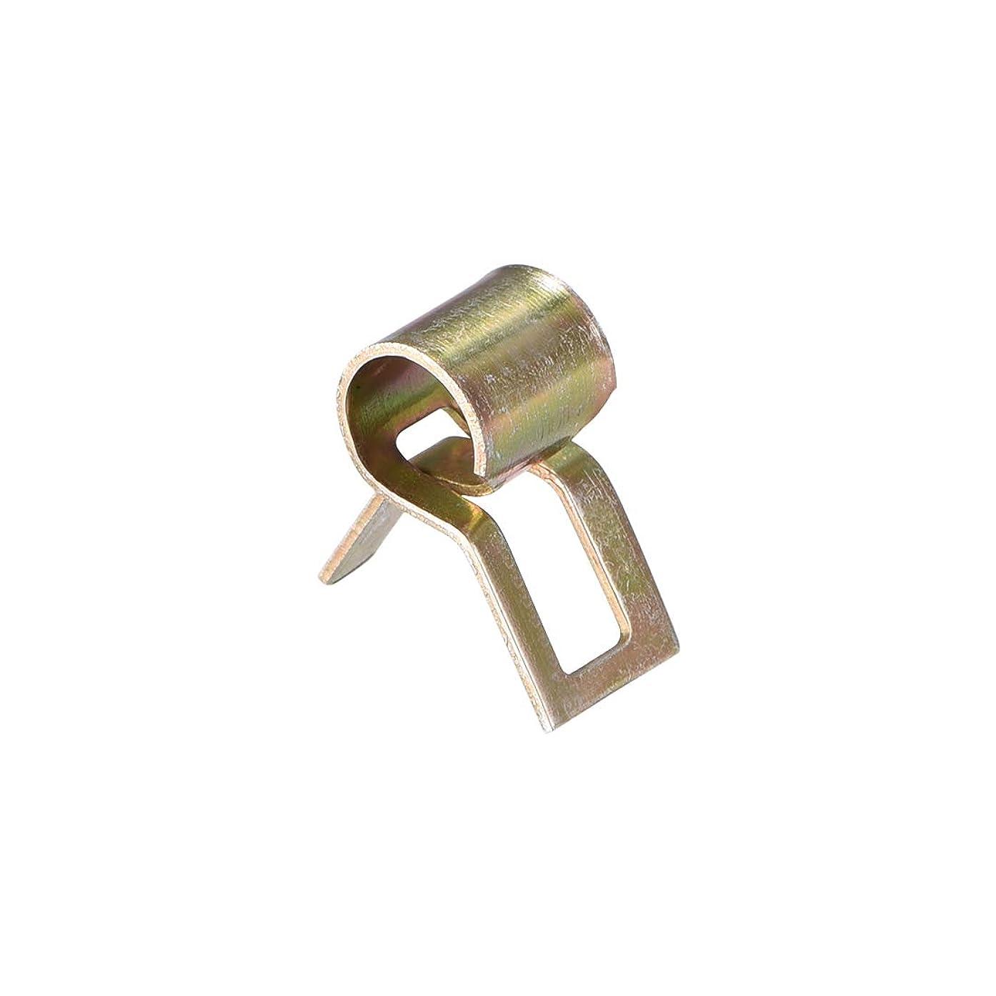 貼り直すリーズパキスタンuxcell チューブクランプ ホース クランプ 6mm スプリング バンド タイプ クリップ フューエルライン交換用 10個入り