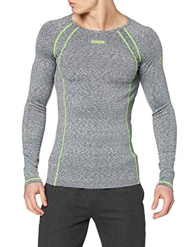 Gregster - T-shirt à manches longues de course à pied pour hommes - Convient pour le fitness, le cyclisme et running - Stretch et respirant