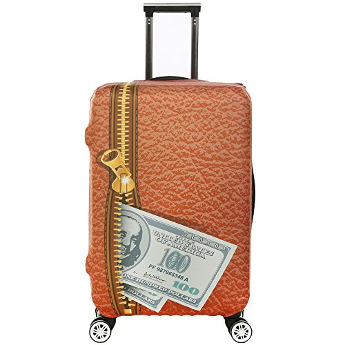 7-Mi 3D Suitcase Cover Dollars Design Travel Trolley Case Cover Protector Suitcase Cover 29'-30' Trolley Case Luggage Storage Covers Size XL