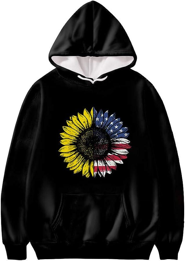 Xhuibop Hoodies for Teens Plus Size Unisex Hooded Sweatshirts Long Sleeve