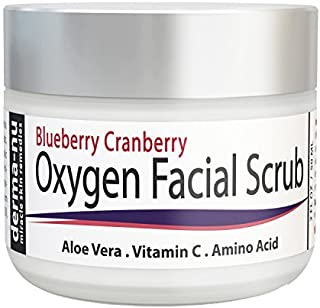 Exfoliating Facial Scrub Natural & Organic - Blueberry Cranberry Anti Oxidant Face Exfoliation by Derma-nu - Aloe Vera, Vi...