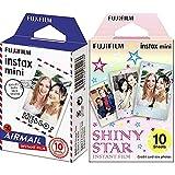 Instax Mini AirmailPelícula instantánea + 16404193Colorfilm Mini Star WW 1, película fotográfica instantánea (10 Hojas per Pack), Estrellas