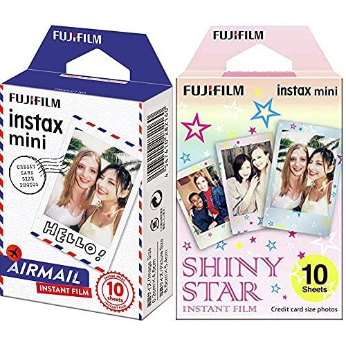 Fujifilm Instax Mini Instant c Airmail, Weiß & Instax Mini Star WW1 Film, Rosa