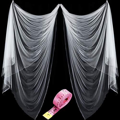 Zonon Rete Zanzariera di Insetti e Mosquito e Uccelli Caccia a Cieca Reticolato di Giardino di Protezione di Piante (3 m x 6 m, Bianco)