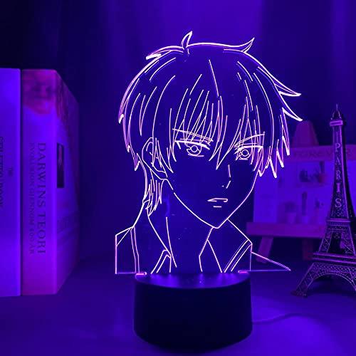 Lámpara LED 3D ilusión ilusión lámpara de escritorio de anime japonesa luz Fruits Basket Kyo Sohma lamp,para niños dormitorio decoración nocturna regalo de cumpleaños manga gadget